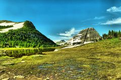 Glaciärlandskap Royaltyfria Foton