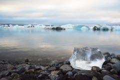 Glaciärlandskap i Island Arkivbilder