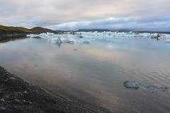 Glaciärlandskap i Island Arkivfoton