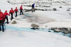 glaciärmendenhall Arkivbilder