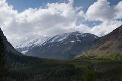glaciärnationalparkdal Arkivbilder