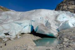 glaciärsmältning Arkivbild