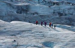Glaciärtrekkers Royaltyfria Bilder