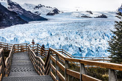 glaciärväg till Royaltyfri Fotografi