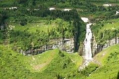 glaciärvattenfall Royaltyfri Bild