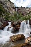 glaciärvattenfall Royaltyfri Fotografi