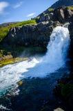 Glaciärvattenfall Royaltyfri Foto