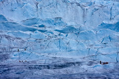 Glaciéristes Photos stock