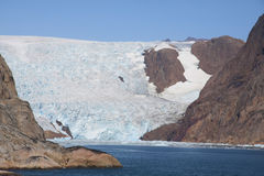 Glacial. Fiord greenland near the south coast Royalty Free Stock Image