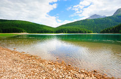 Glacial Black lake in Durmitor Royalty Free Stock Image