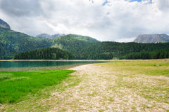 Glacial Black lake in Durmitor Royalty Free Stock Photo