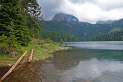 Glacial Black lake located on mount Durmitor Royalty Free Stock Photo