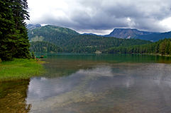 Glacial Black lake located on mount Durmitor Royalty Free Stock Photography