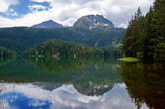 Glacial Black lake located on mount Durmitor Stock Images