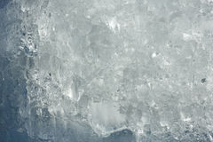 Glacial block of ice closeup. Royalty Free Stock Photo