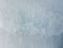 Glacial block of ice closeup. Royalty Free Stock Images