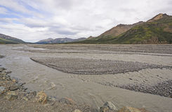 Glacial Braided River in the Wilds Stock Photo