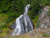 A glacial cascade of water in british columbia Royalty Free Stock Photos