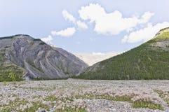 Glacial eluvial plain Royalty Free Stock Photo