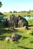 Glacial erratic boulders Stock Photography