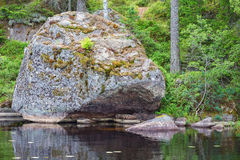 Glacial erratic rock Royalty Free Stock Image