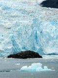 Glacial Flow Kenai Fjords Alaska Harding Ice Field Aialik Glacier stock photography