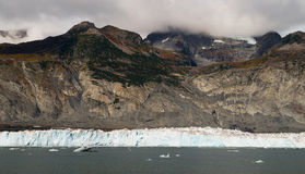 Glacial Flow Kenai Fjords Alaska Harding Ice Field Aialik Glacier royalty free stock photography