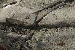 Glacial groove in granite bedrock, Mt. Kearsarge, New Hampshire. Stock Photo