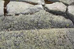 Glacial groove in granite bedrock, Mt. Kearsarge, New Hampshire. Stock Photography