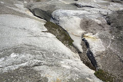Glacial grooves in granite bedrock, legacy of the ice age. Glacial grooves in granite bedrock, legacy of the ice age on the summit of Mt. Cardigan near Grafton Stock Image