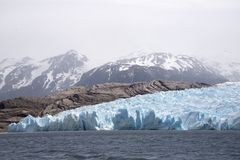 Glacial ice field and lake  Stock Image