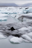 Glacial ice, Jokulsarlon Stock Photos