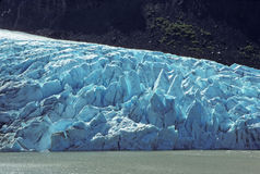 Glacial Ice in the Mountains Stock Photography