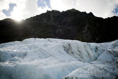 Glacial Ice and Sun Stock Image