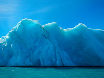 Glacial ice wall Royalty Free Stock Images