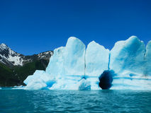 Glacial ice wall Stock Images