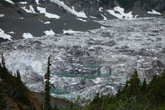 Glacial kettles as seen at the toe of the salmon glacier. Royalty Free Stock Photo