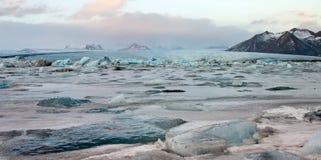 Glacial Lagoon of the Vatnajokull Glacier Stock Images