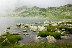 Glacial lake. In National Park Retezat, Romania Stock Photo