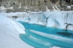 Glacial lake Royalty Free Stock Images