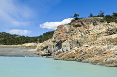 Glacial lake in Argentina Royalty Free Stock Image