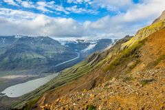 Glacial lake. Beautiful photo of a glacial glacial lake and fjords in Iceland royalty free stock image