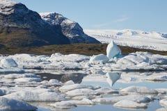 Glacial lake in Iceland. Glacial lake in Fjallsarlon, Iceland stock images