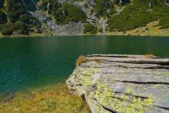 Glacial lake. In retezat national park, romania royalty free stock photo