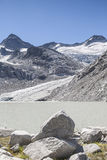 Glacial lake in Großvenediger area Stock Photography