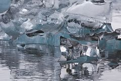 Glacial lake in Iceland. Glacial lake in Jokulsarlon, Iceland royalty free stock photos