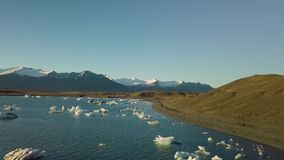 Glacial lake in Iceland stock video