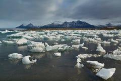 Glacial lake in Iceland. Glacial lake in Jokulsarlon, Iceland stock images