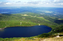 Glacial lake in Karkonosze mountains Stock Image