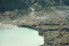 Glacial Lake in Kluane National Park, Yukon. Glacial lake and winding river in the Kluane National Park, Yukon Territory, as seem from the air stock images